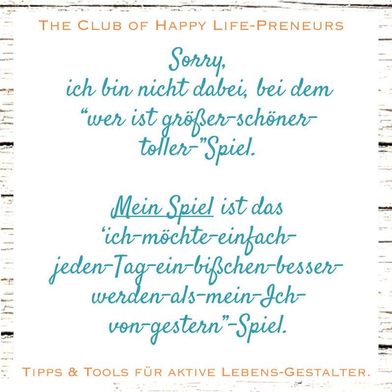 sich vergleichen, macht unglücklich, kristin reinbach, coaching, selbst-coaching, the club of happy lifepreneurs
